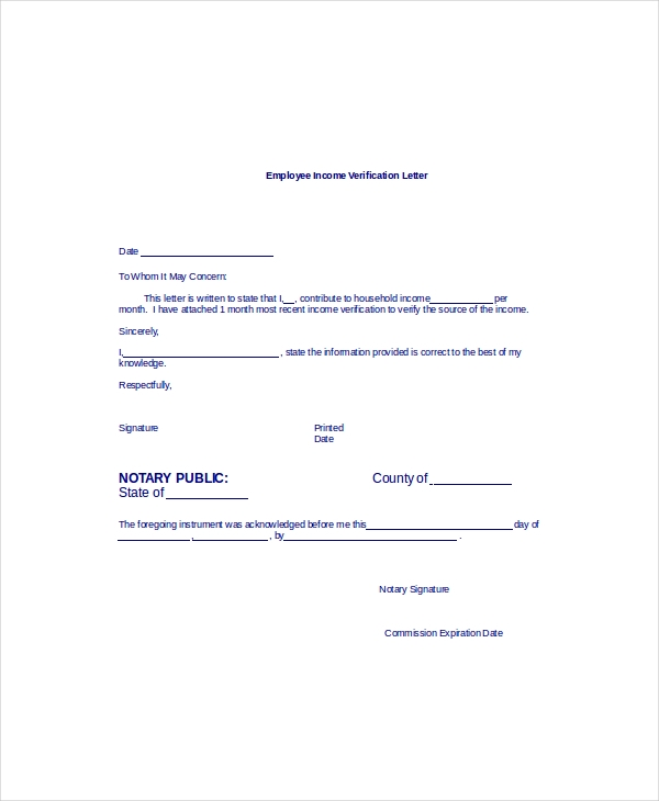 Letter Of Employment Verification Template from toplettertemplates.com