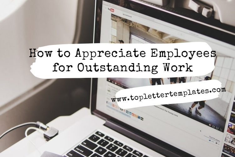 Appreciation Letter To Employee For Outstanding Performance