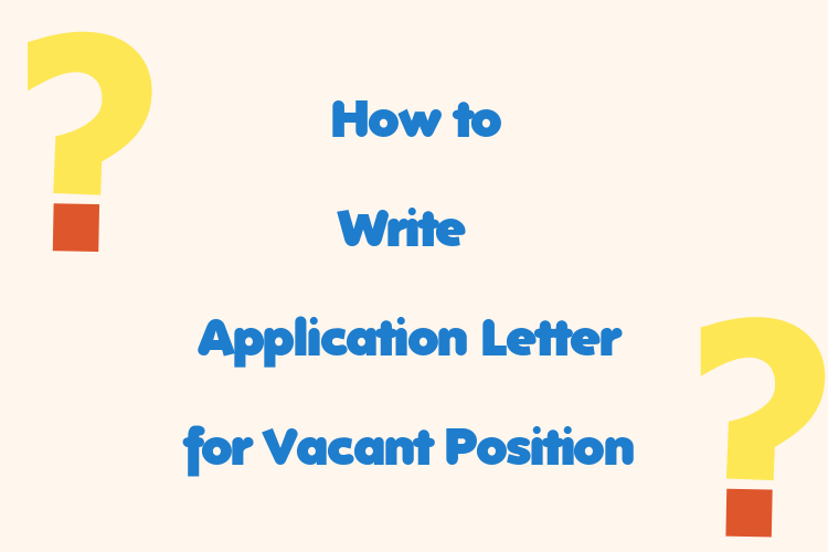 simple application letter sample for any vacant position - word  pdf