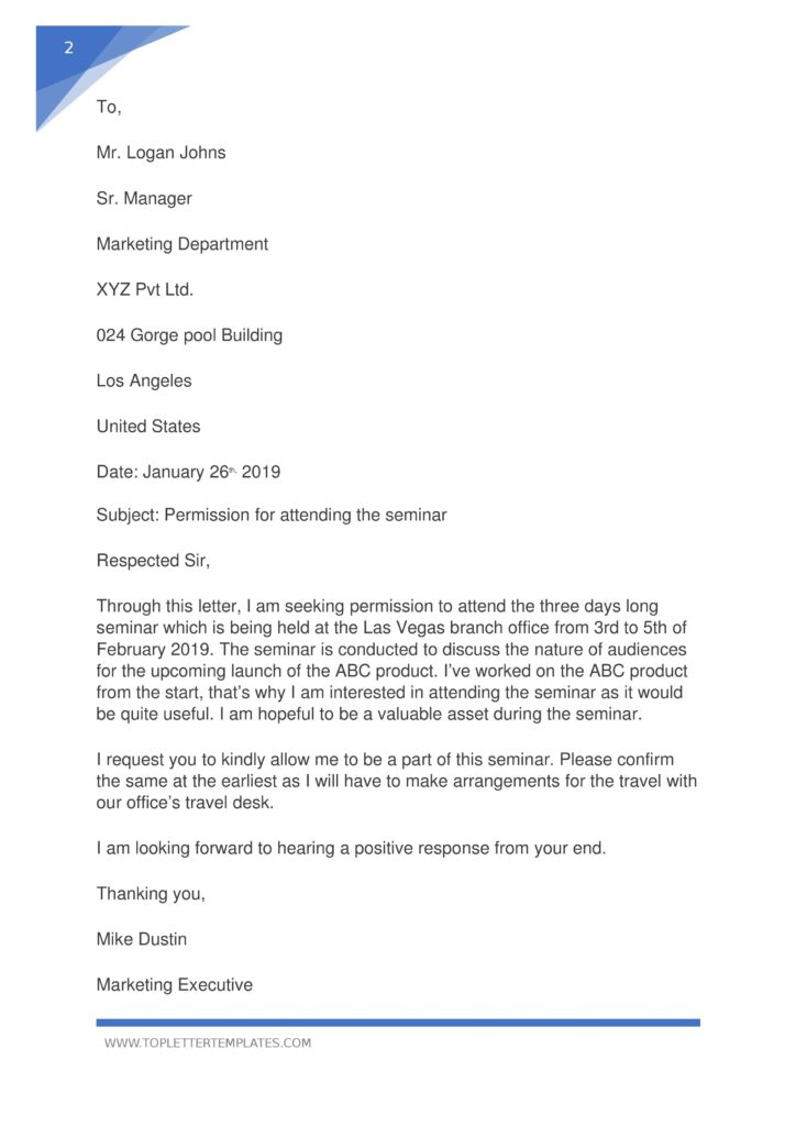 Asking Letter Of Recommendation from toplettertemplates.com
